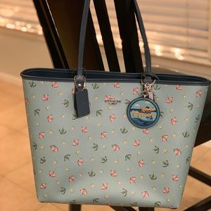 Coach Reversible City Tote and Keychain